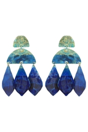 We Dream In Colour Ocean-Ombre Kalaiya Earrings - Product Mini Image