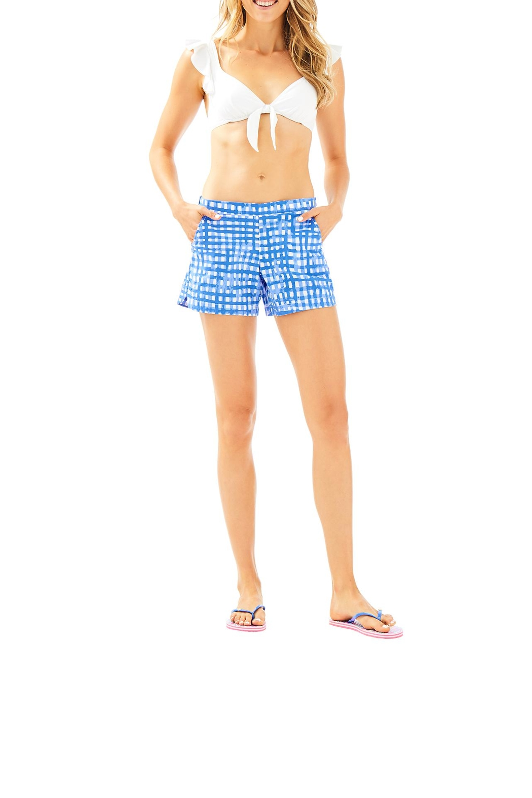 Lilly Pulitzer Ocean View Boardshort - Back Cropped Image