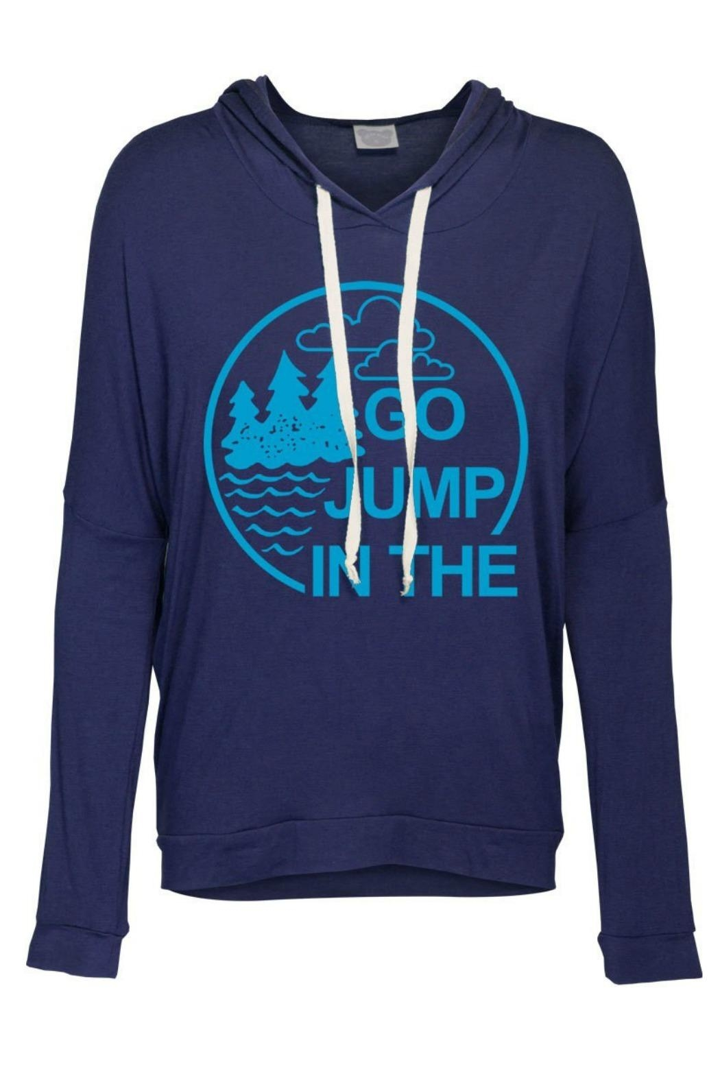 OCEAN & 7TH Lake Blue Hoodie - Front Cropped Image