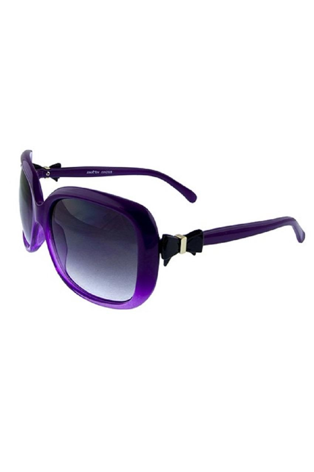 Ocean and Land Bow-Tie Sunglasses - Front Cropped Image