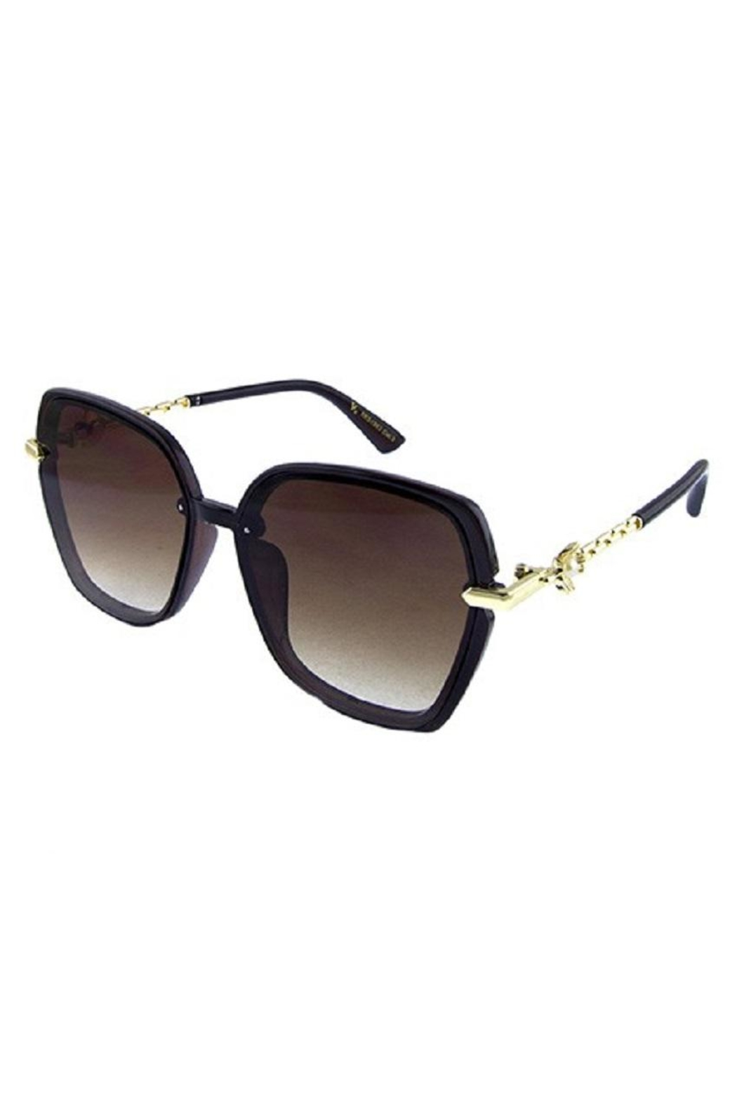 Ocean and Land Pearl Flower Sunglasses - Front Cropped Image