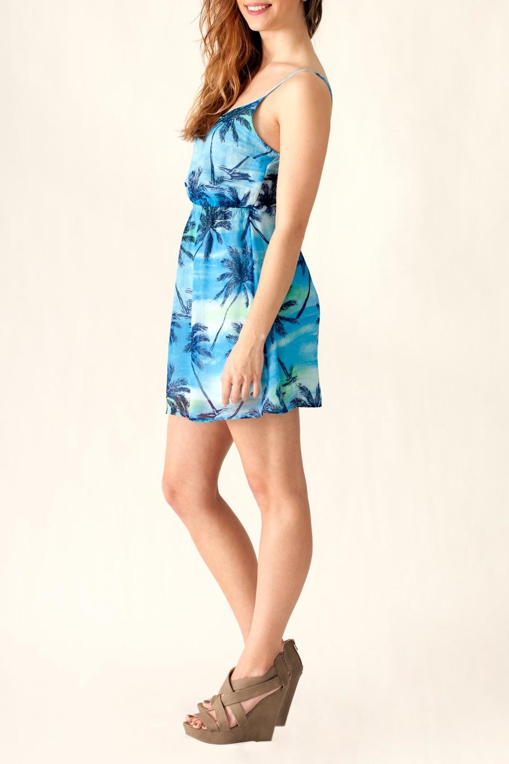 Ocean Drive Palm Tree Dress - Side Cropped Image