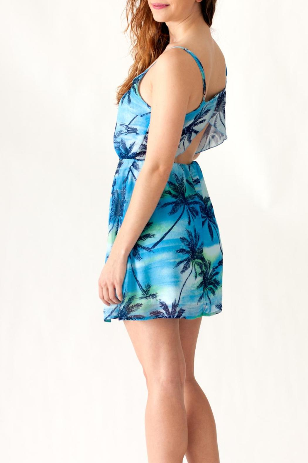 Ocean Drive Palm Tree Dress - Back Cropped Image