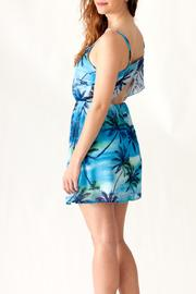 Ocean Drive Palm Tree Dress - Back cropped