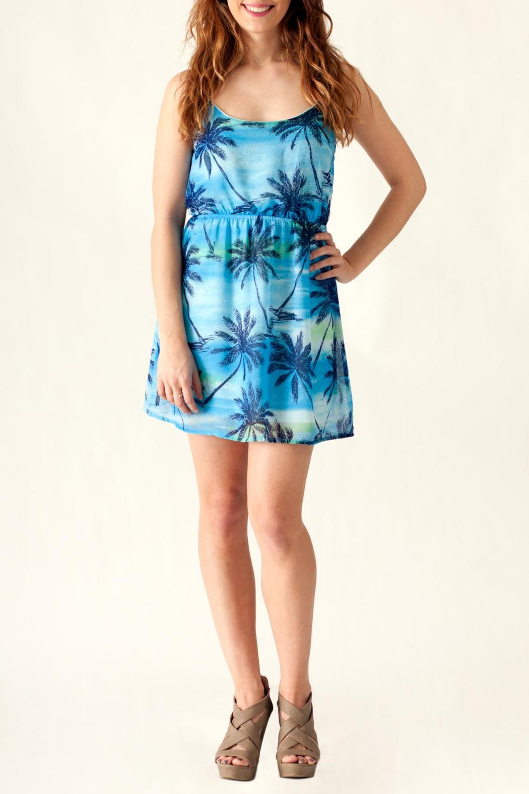 Ocean Drive Palm Tree Dress - Front Cropped Image
