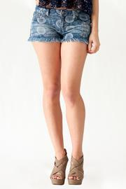 Ocean Drive Printed Denim Shorts - Front full body