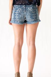 Ocean Drive Printed Denim Shorts - Side cropped