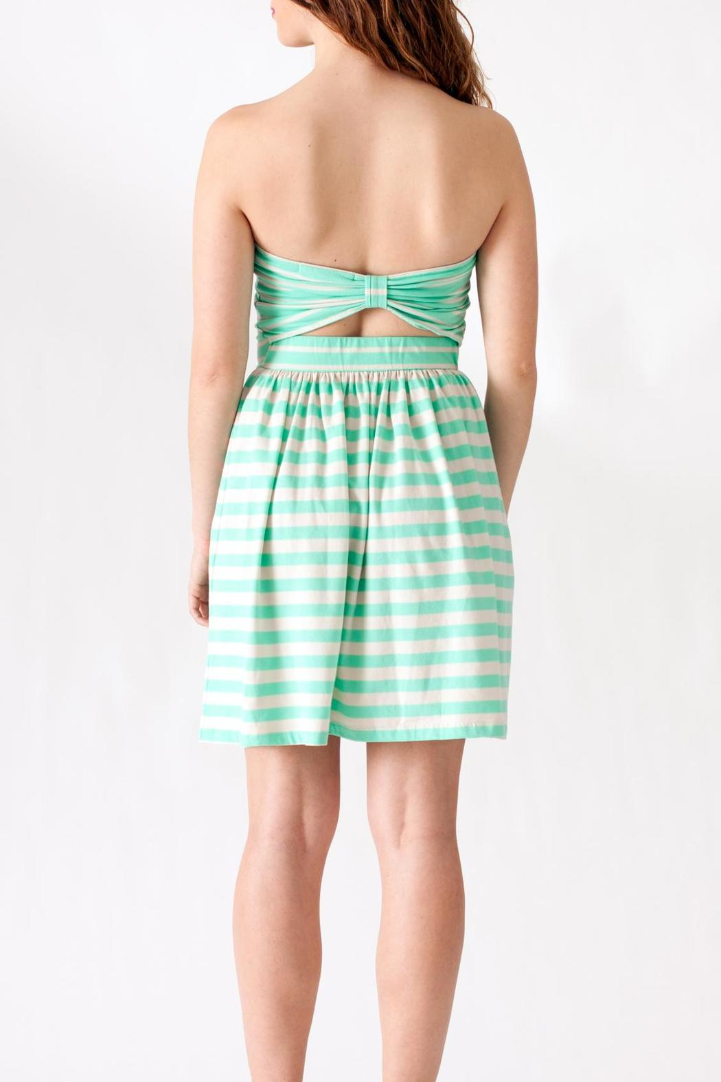 Ocean Drive Striped Tube Dress - Back Cropped Image