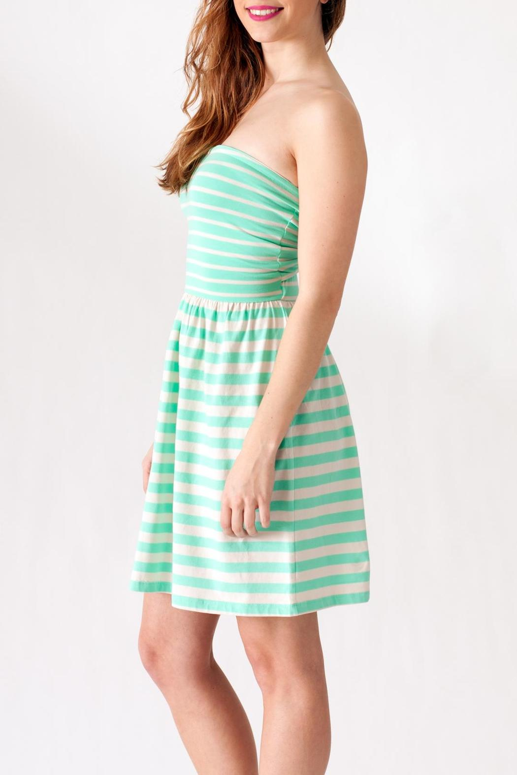 Ocean Drive Striped Tube Dress - Side Cropped Image