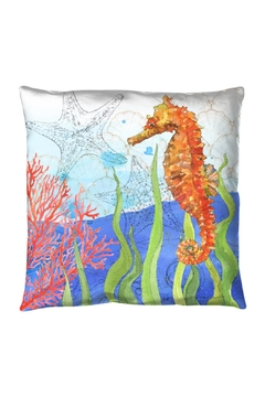 Sally Eckman Roberts Oceana Seahorse Pillow - Product List Image