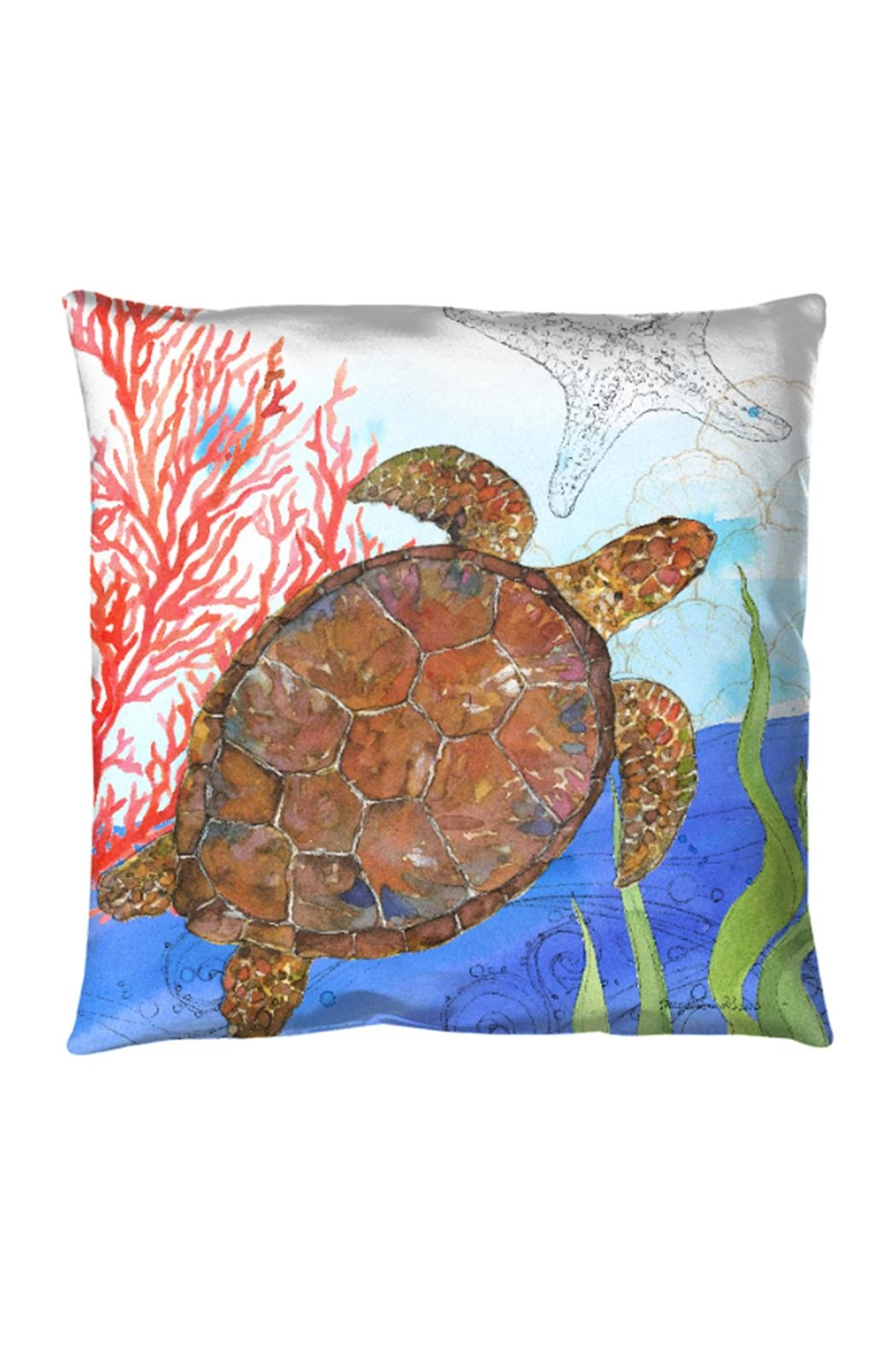 Sally Eckman Roberts Oceana Turtle Pillow - Front Cropped Image
