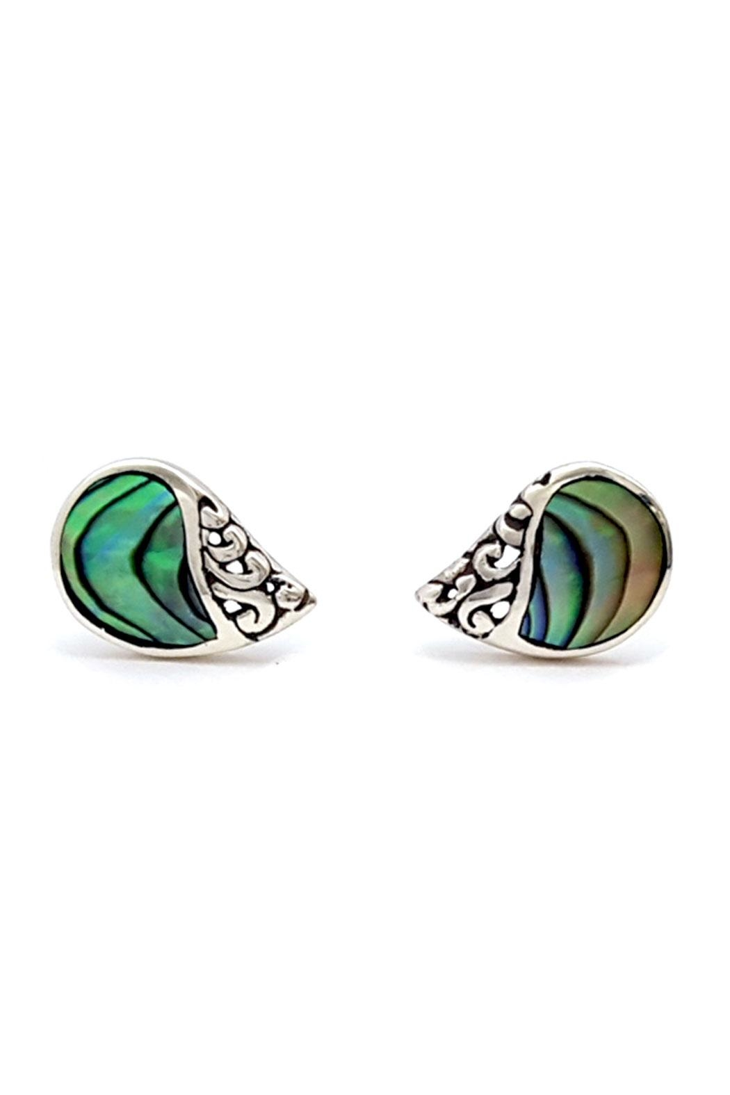 Oceania Maui Abalone Stud Earrings Front Cropped Image