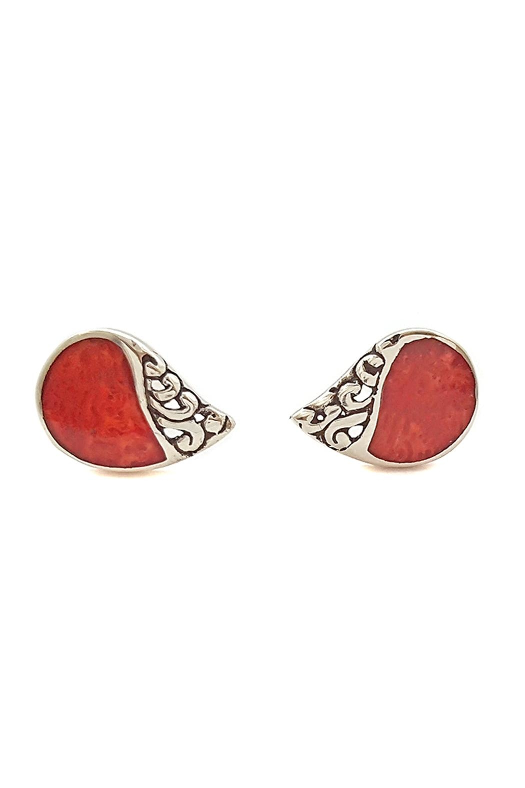 Oceania Maui Coral Stud Earrings - Main Image