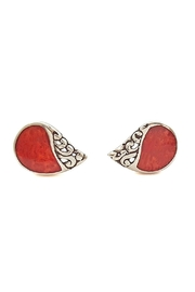Oceania Maui Coral Stud Earrings - Front cropped