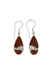 Oceania Maui Coral Wave Earrings - Product Mini Image