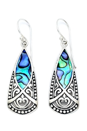 Oceania Maui Dangling Abalone Earrings - Front cropped