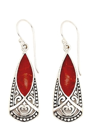 Oceania Maui Dangling Coral Earrings - Front cropped