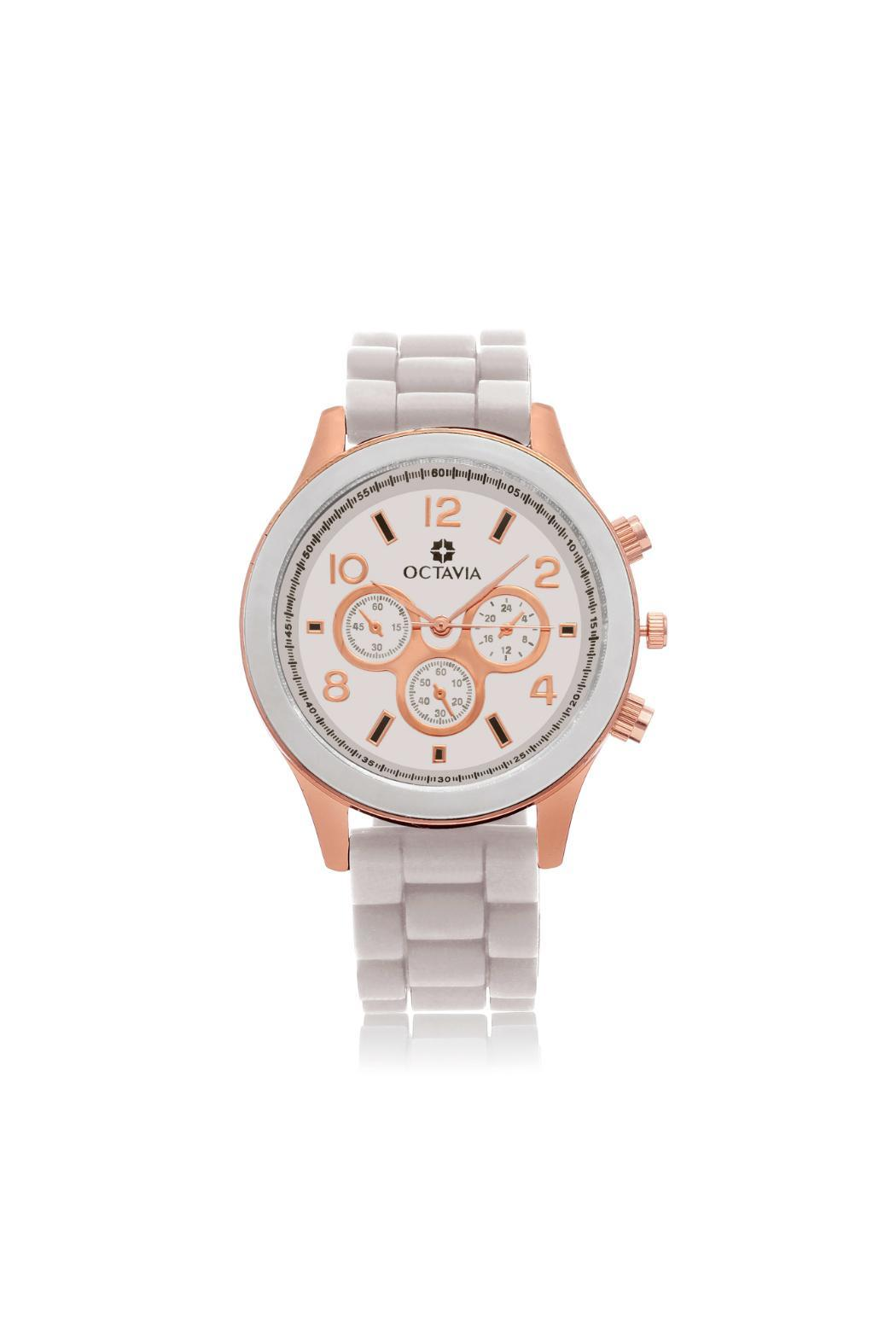 Octavia Pearl Rose Watch - Front Full Image