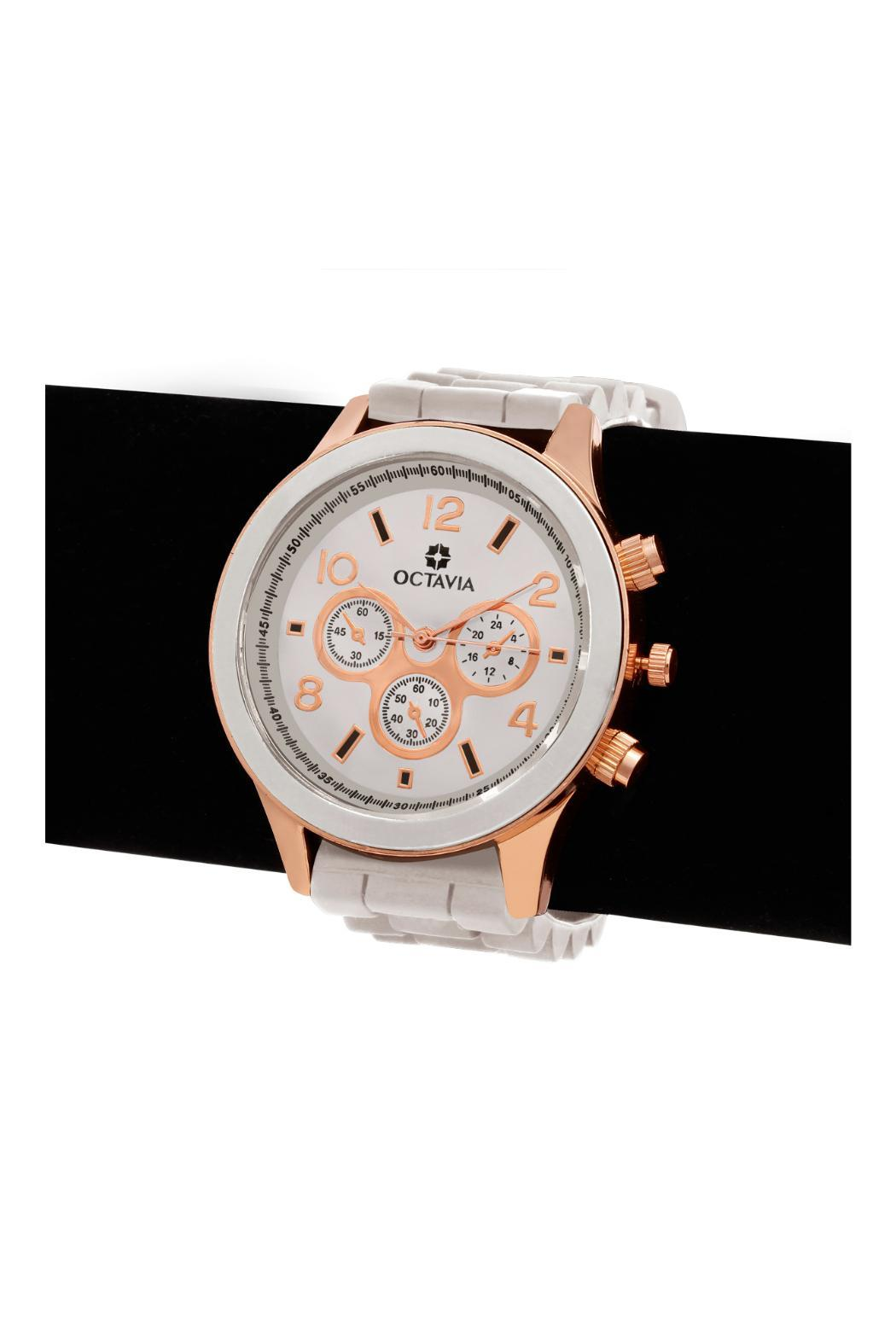 Octavia Pearl Rose Watch - Side Cropped Image