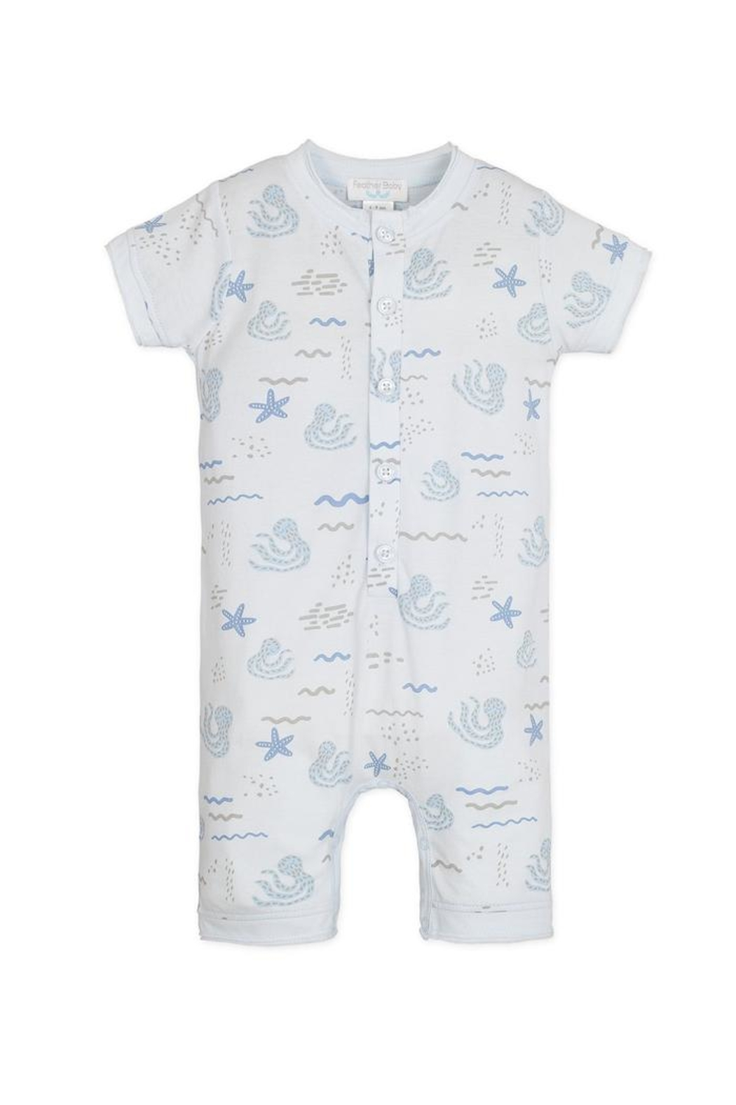 Feather Baby Octopi Henley Romper - Main Image