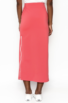 odAOMO Coral Zip Midi Skirt - Alternate List Image