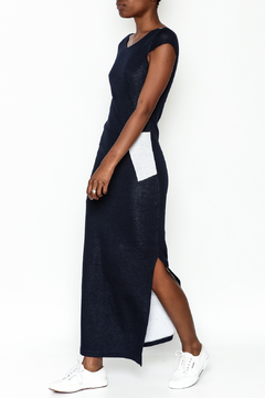 odAOMO Navy Bareback Maxi Dress - Product List Image