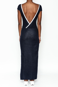 odAOMO Navy Bareback Maxi Dress - Alternate List Image