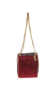 odAOMO Red Beaded Drop Clutch - Product List Image
