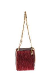 odAOMO Red Beaded Drop Clutch - Product Mini Image
