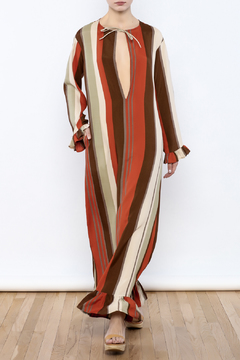 Shoptiques Product: Ruffle Striped Maxi Dress
