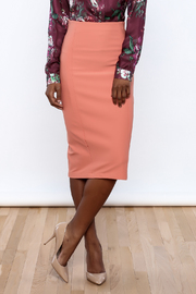 Salmon Jersey Pencil Skirt