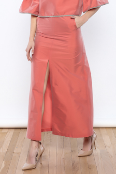 odAOMO Salmon Maxi Skirt - Product List Image