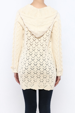 Shoptiques Product: Hooded Cable Knit Sweater
