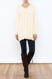 Shoptiques Product: Hooded Cable Knit Sweater - Front full body