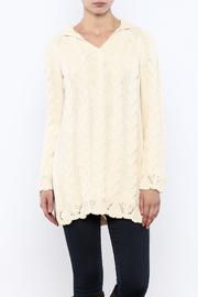 Shoptiques Product: Hooded Cable Knit Sweater - Front cropped