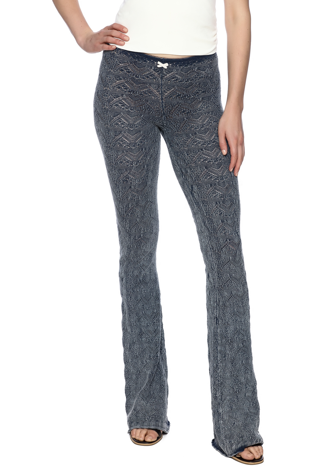 Odd Molly Knit Indigo Bootcut Legging - Main Image
