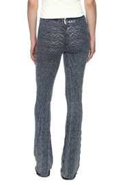 Odd Molly Knit Indigo Bootcut Legging - Back cropped