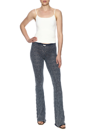 Odd Molly Knit Indigo Bootcut Legging - Front full body