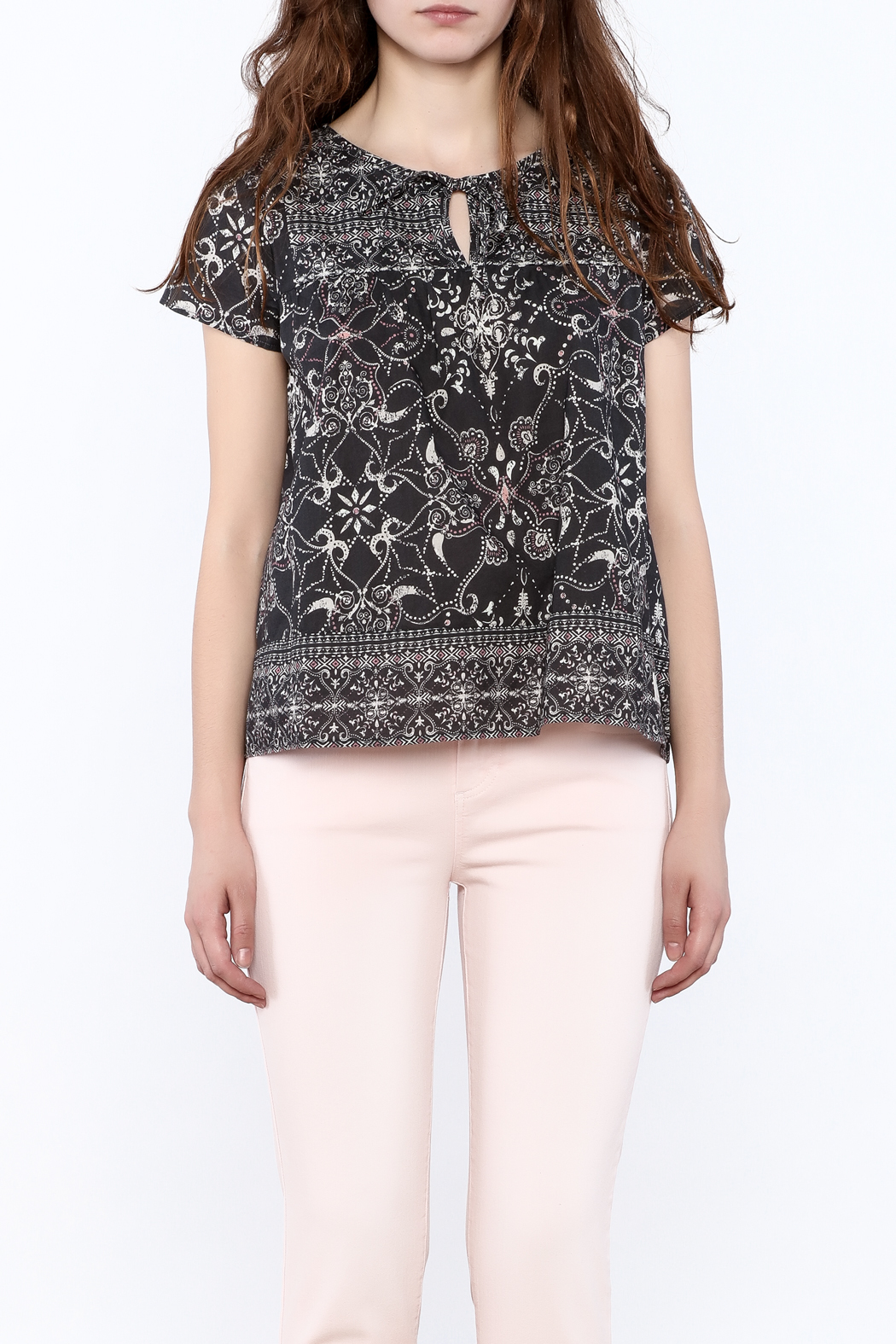 Odd Molly Paisley Peasant Blouse - Side Cropped Image