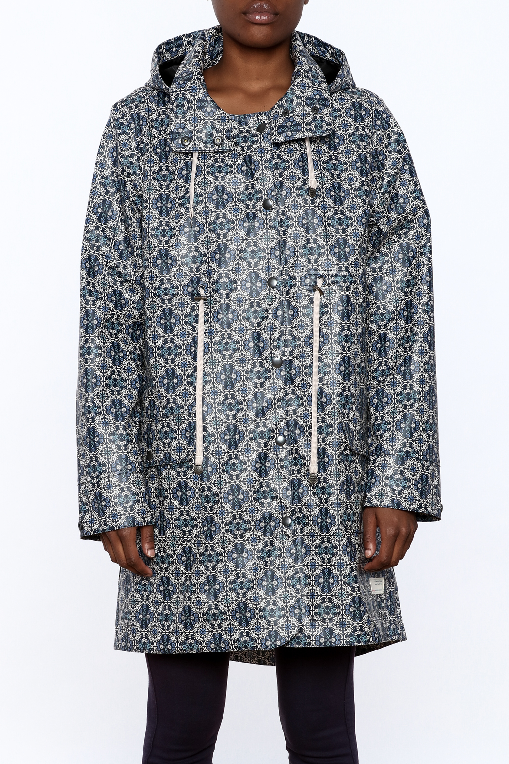 Odd Molly Printed Rain Jacket - Side Cropped Image