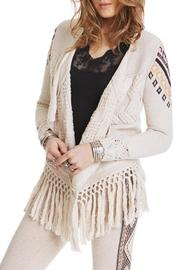 Odd Molly Aztec Fringe Cardigan - Product Mini Image