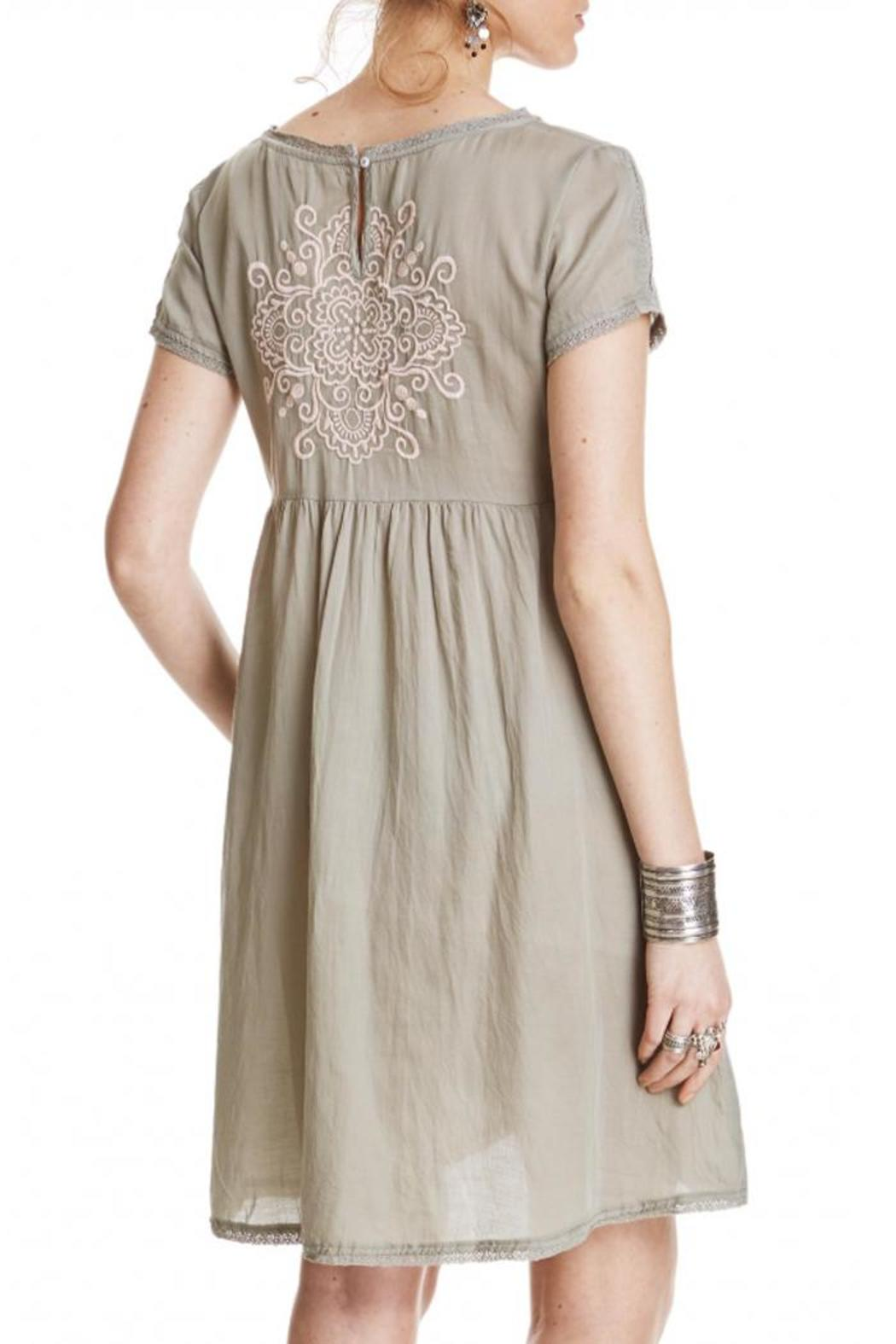 Odd Molly Sage Embroidered Dress - Front Full Image