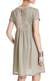 Odd Molly Sage Embroidered Dress - Front full body