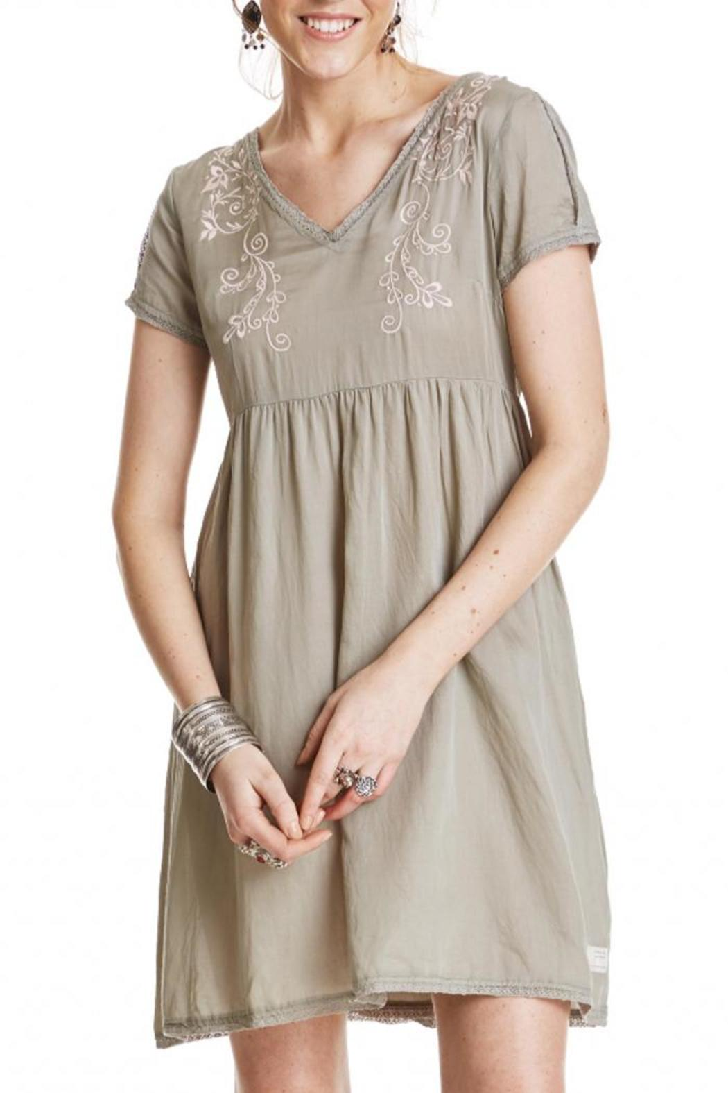 Odd Molly Sage Embroidered Dress - Main Image