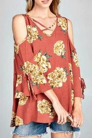 Oddi Bell Sleeve Blouse - Front cropped