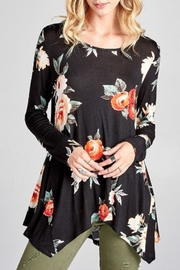 Oddi Black Floral Top - Product Mini Image
