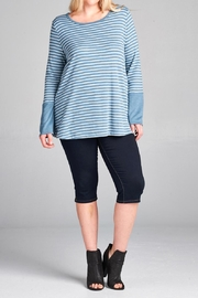 Oddi Blue Stripe Top - Product Mini Image