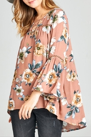 Oddi Boho Floral Top - Back cropped