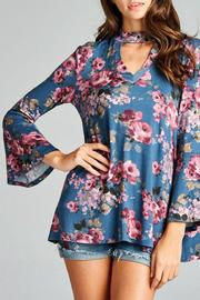Oddi Boho Floral Top - Front cropped