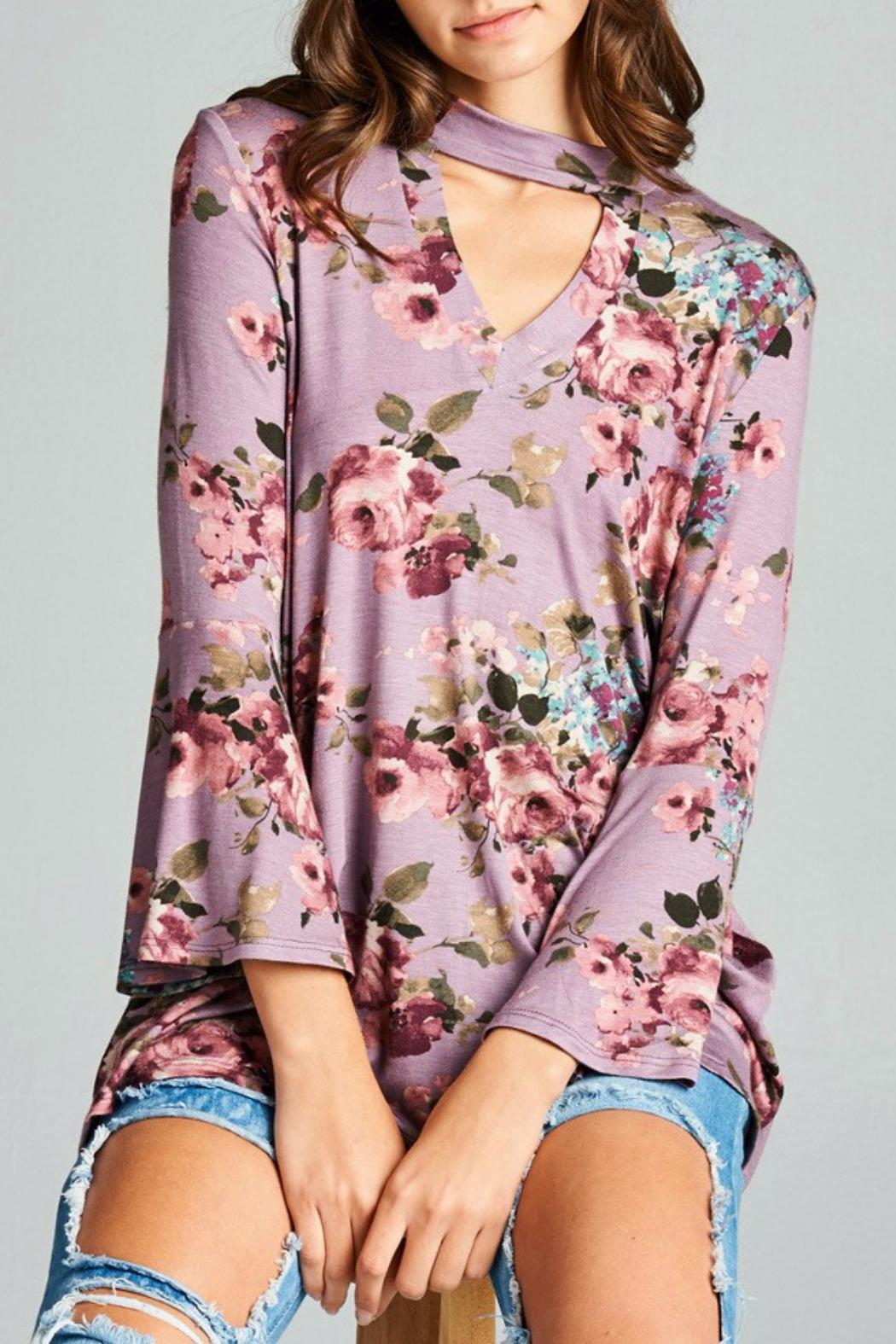 Oddi Boho Floral Top - Front Cropped Image